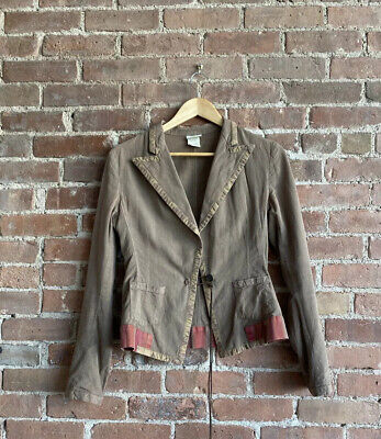 Dries Van Noten Womens Jacket Sz 38, Cotton/Linen Belgium