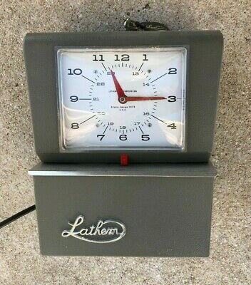 Vintage Lathem 4001 Time Clock With Key Not Working