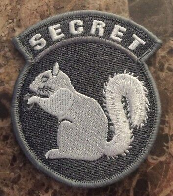 "BuckUp Tactical Morale Patch Hook Secret Squirrel ACU White 3"" sized"