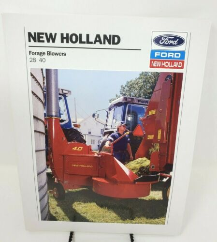 Vintage Ford New Holland Forage Blower Color Brochure 28, 40  Farm Agriculture