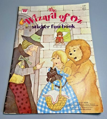 1976 Vintage WHITMAN The Wizard Of Oz Sticker Fun Book UN-PUNCHED NO COLORING