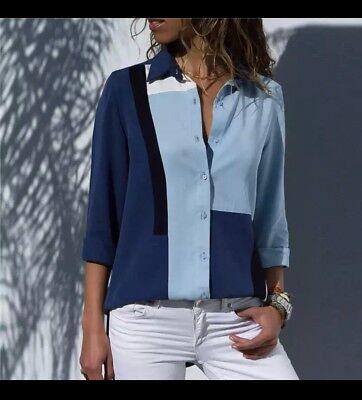 2018 spring/autumn women's new arrival fashion temperament printing shirt blouse