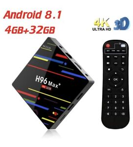 H96 Max + Android box 8.1 OS, 4gb ram fully programmed