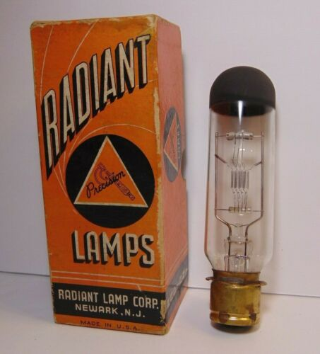 Vtg 30s Precision Radiant Lamp Projection Lamp Projector Light Newark New Jersey