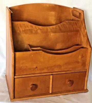 Vintage Desk Top Letter Organizer