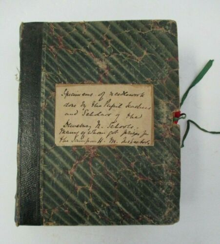 Early 1900s Specimens of NEEDLEWORK Book by DEWSBURY Schools Students & Teachers