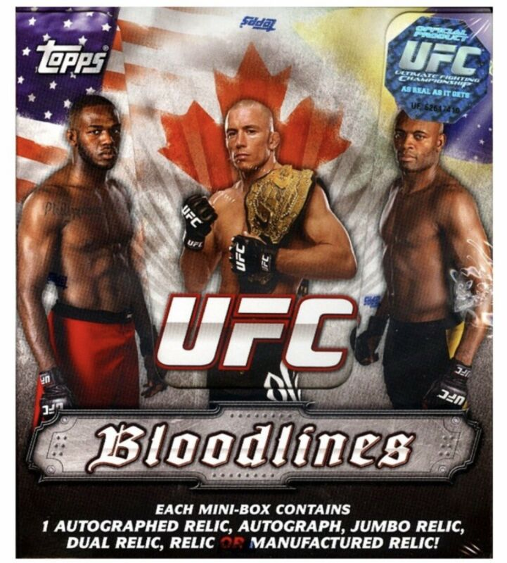 2012 Topps UFC Bloodlines Factory Sealed MINI-Box with Auto or Relic Pack