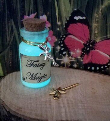 GLOW IN THE DARK fairy dust /magic, magic wand fairy garden accessories,NEW SIZE (Glow In The Dark Wands)