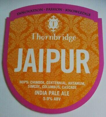 Beer pump clip badge front THORNBRIDGE brewery JAIPUR real ale Derbyshire