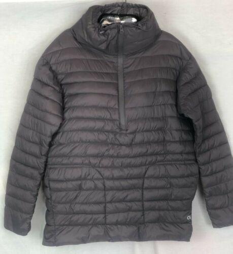 Gap Size S Maternity Jacket Womens Grey GapFit Puffer Zipper Packable