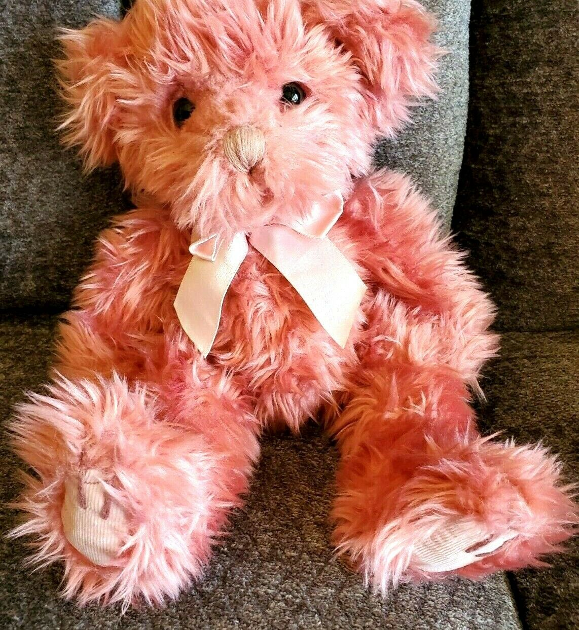 """Russ Teddy Bear Vintage Pink Bears From The Past Retired Collectible 12"""""""