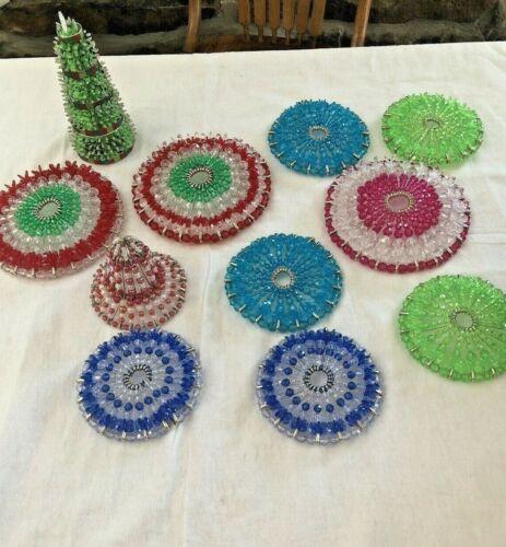 Vintage --Beaded---- Handmade Christmas Ornaments
