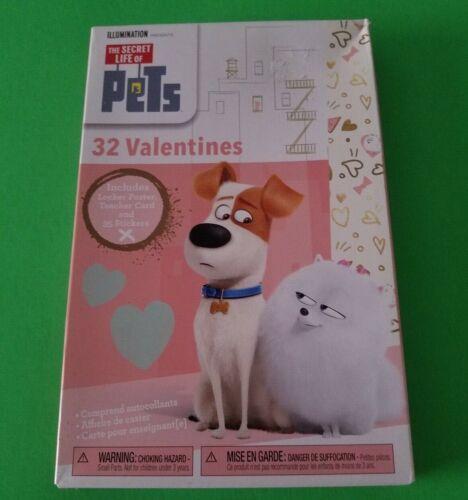 The Secret Life Of Pets 32 Valentines Locker Poster Teacher Card 35 Sticks New