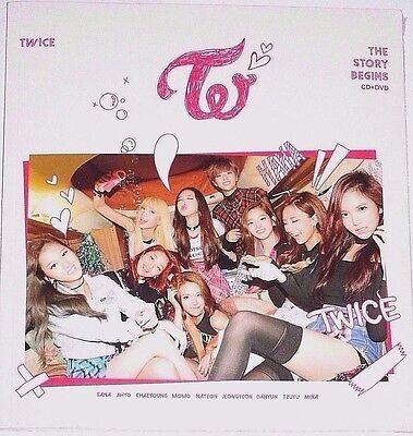 TWICE The Story Begins Taiwan Edition CD+DVD with a Bonus CARD (2015) #95