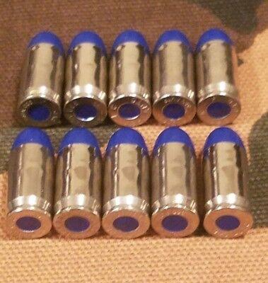 380 SNAP CAPS  SET OF 10 (BLUE+NICKEL)