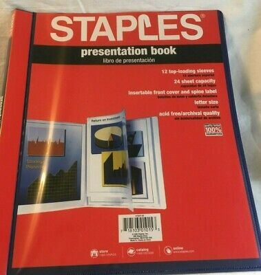 Staples Presentation Book 12 Top Loading Sleeves