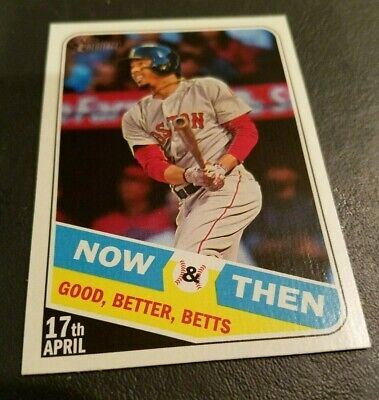 2018 TOPPS HERITAGE HIGH NUMBER MOOKIE BETTS #NT-7 NOW&THEN