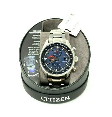 Citizen Eco-Drive Chronograph Men's Watch Stainless Steel Blue Face CA0590-82L
