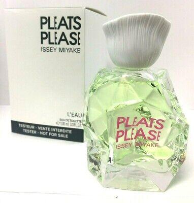 Pleats Please L'eau by Issey Miyake 3.3 oz EDT Women's Perfume Tester
