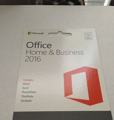 Microsoft Office Home And Business 2016 For 3 Mac English