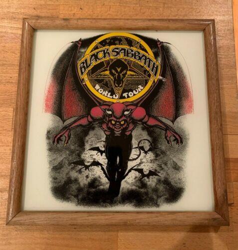 "Black Sabbath - framed glass 13""x13"" world tour 1982 vintage Mob Rules carnival"
