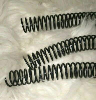 100 pc 18 mm Black Plastic Coil Binding Supplies, Spiral 12