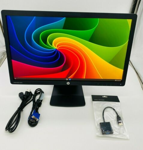 "HP 21.5"" inch Monitor Webcam AntiGlare EliteDisplay E221c Wide LCD VGA Backlit"