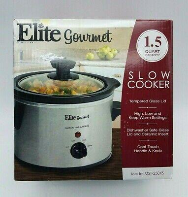 Elite 1.5Qt Mini Slow Cooker Stainless MST-250XS