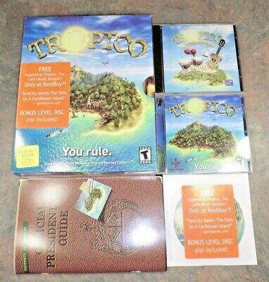 TROPICO 1 Original PC Computer Game Big Box COMPLETE + Best Buy Music CD (Best Music Games Pc)