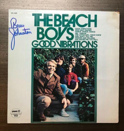 * BRUCE JOHNSTON * signed vinyl album * THE BEACH BOYS *GOOD VIBRATIONS* PROOF 2