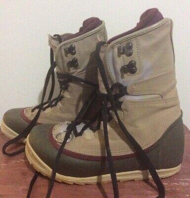 Burton Womens Snowboard Boots Size 7 Tan/Burgundy/Green