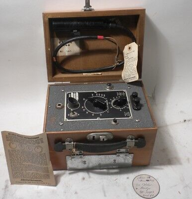 Vintage Rb Solu Bridge Conductivity Meter And Cell
