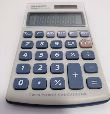 Sharp Elsi Mate EL-240S Twin Power Calculator