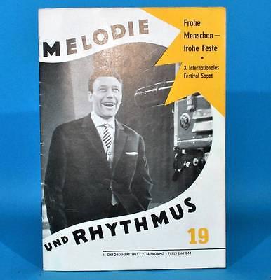 DDR Melodie und Rhythmus 19/1963 Jane Swärd Peter Wieland Leo de Beer Sopot