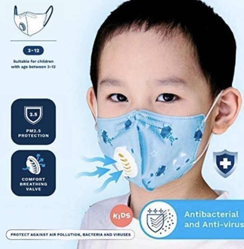 Children face mask with filter.. FREE SHIPPING !!!