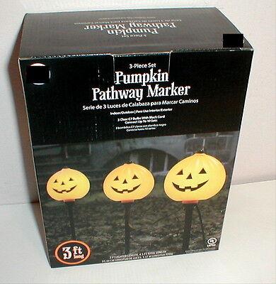 Halloween Driveway Lights (Pumpkin Pathway Driveway Lighted Markers Halloween)