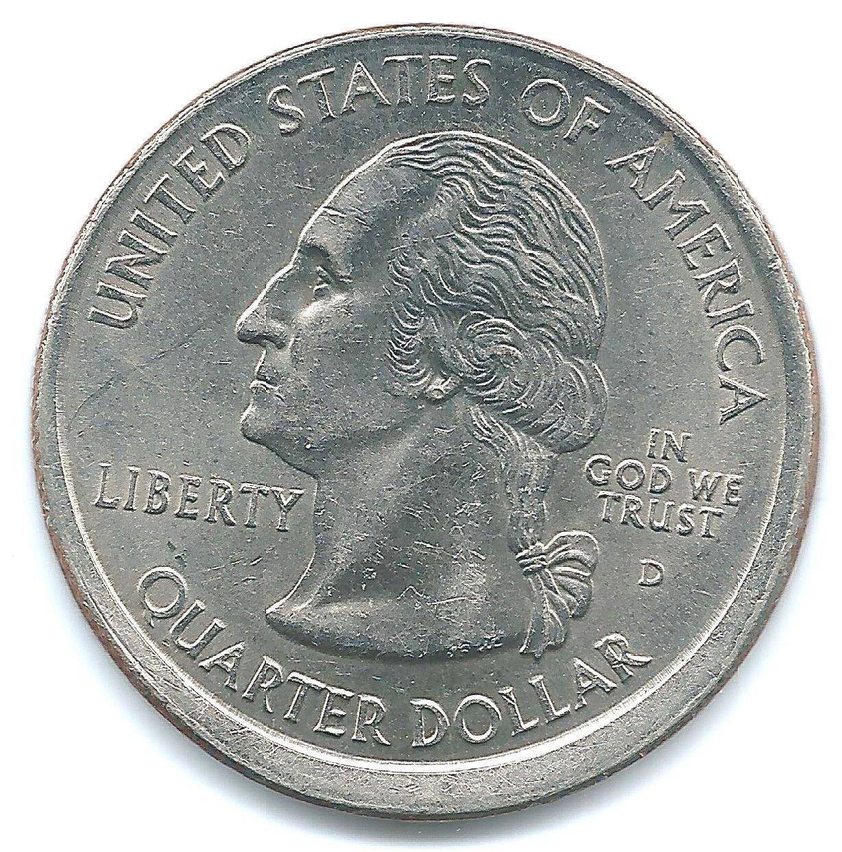 2000-P South Carolina Off-center Error Quarter