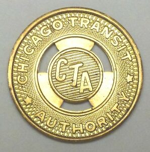 Chicago Transit Authority (CTA) Token, 20 mm, Brass