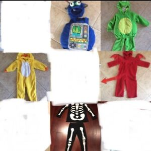 Multiple Halloween costumes