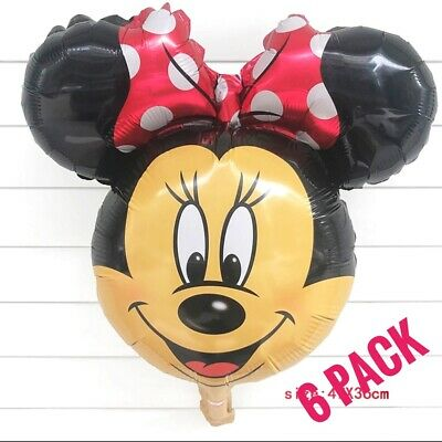 6 Minnie Mouse Party Foil Balloon Air fill Decoration, birthday, baby shower RED](Minnie Mouse Red Party Supplies)