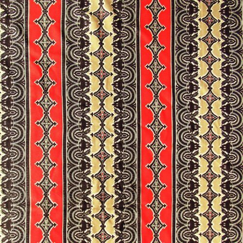 2.9 Yards 1970s Vintage Polyester Rib Knit Fabric Red Brown