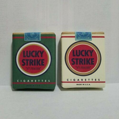 Movie Prop: 2 Fake Vintage Cigarette Packs Lucky Strike Green White