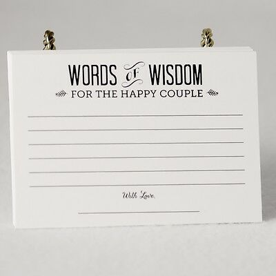 Alternative Guest Book Rustic set of 36 Wedding Bridal Shower Advice Cards (Wedding Shower Book)