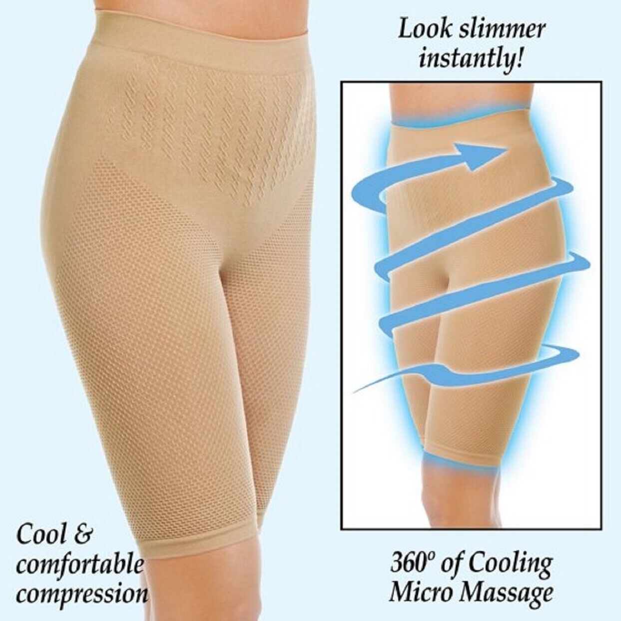 Cooling Shaping Pants Slimming 360° Cooling Micro Massage Gentle Compression S/M Clothing, Shoes & Accessories