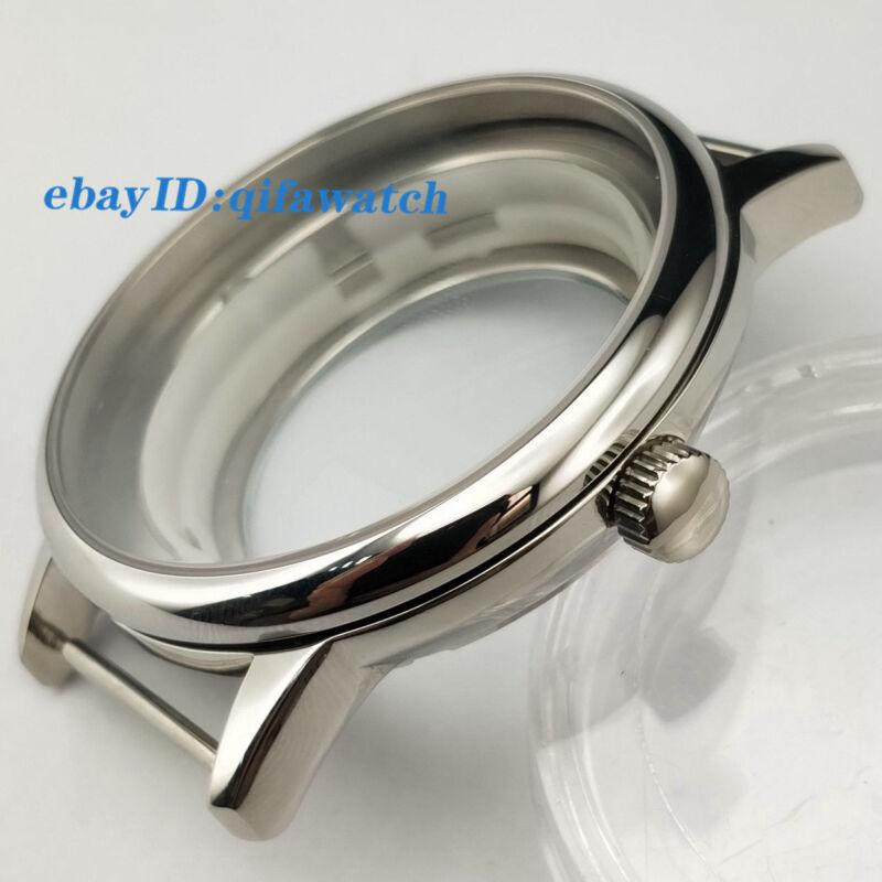 P721 Miyota 8205/8215/821A,Mingzhu 2813/3804 Kit 40mm Silver Sapphire Watch Case