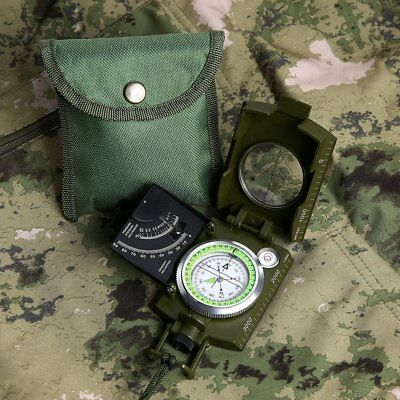 Waterproof Shakeproof Durable Army Cammenga Military Lensatic Compass W  Pouch