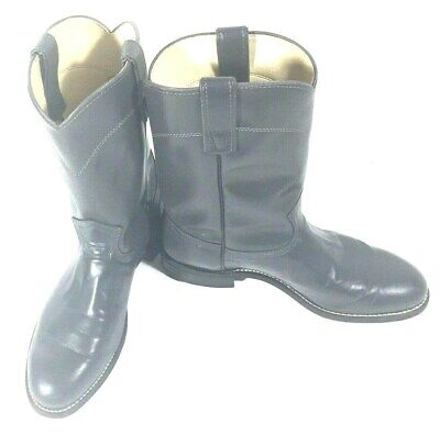 Texas Brand Gray Wellington Style Boots Cowboy Biker Rocker Size 8D Made in USA