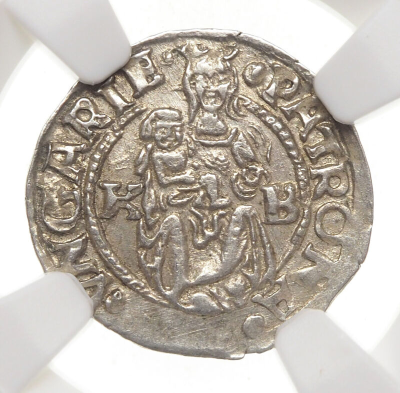 HUNGARY. Ferdinand I Silver Denar, 1543-KB, NGC MS62