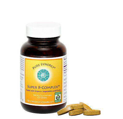 Pure Synergy Super B-Complex  B Vitamin Made w/Organic Fruit