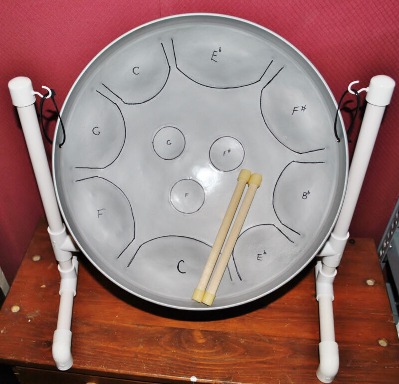 C Blues Scale - Steel Drum - Sticks & Stand - Fun for Guitar Players & Drummers!